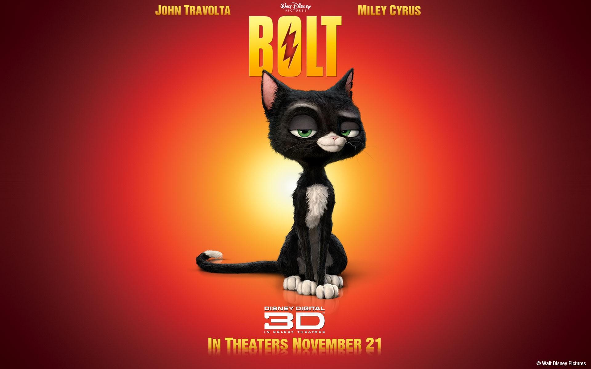 Un wallpaper della micia Mittens nel film 'Bolt - un eroe a quattro zampe'