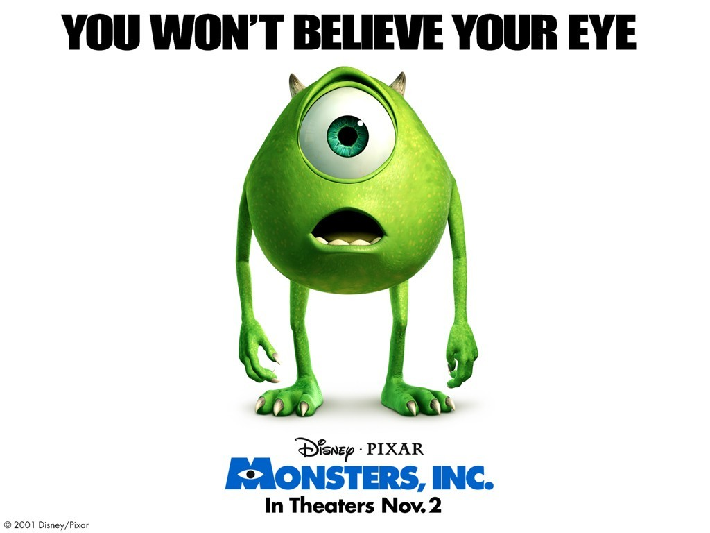 Un wallpaper di Mike per il film d'animazione Monsters Inc.
