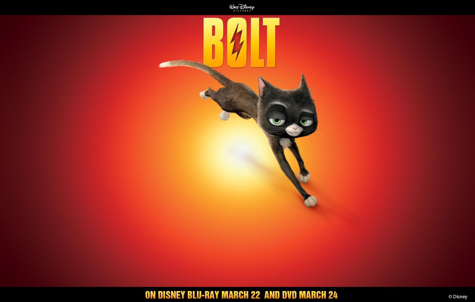 Un wallpaper di Mittens per pubblicizzare l'uscita in dvd e blu-ray del film 'Bolt'