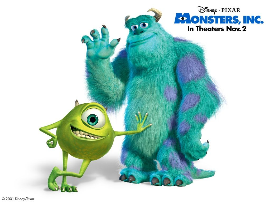 Un wallpaper di Sullivan e Mike per il film Monsters Inc.