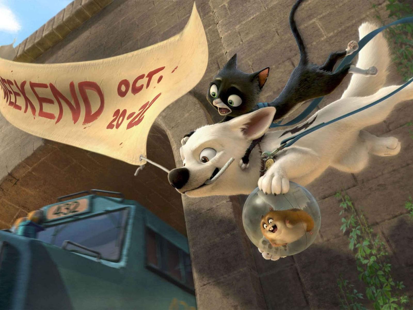 Un wallpaper per il film 'Bolt - un eroe a quattro zampe'