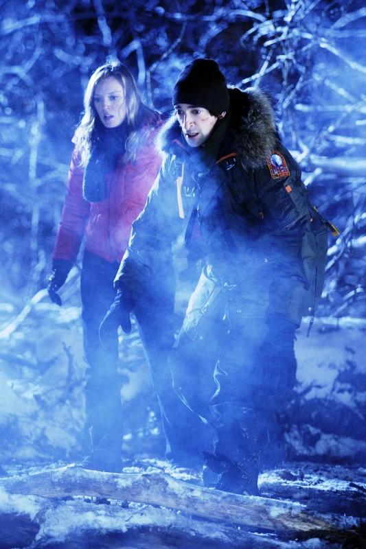 Adrien Brody in una scena del thriller sci-fi Splice, scritto e diretto da Vincenzo Natali