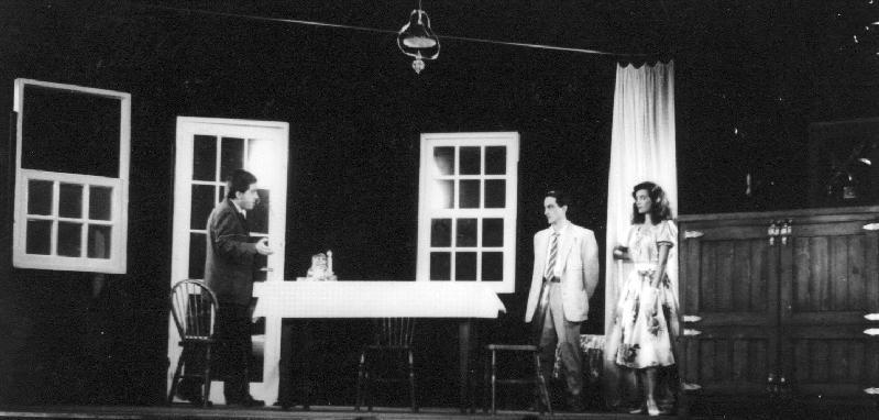 Enrico Oldoini con Nicola Natalia e Marina Suma sul set del film Cuori nella tormenta di E. Oldoini
