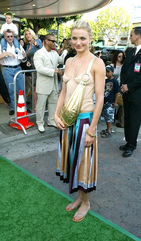 L'attrice Cameron Diaz alla premiere di Shrek 2 nel 2004