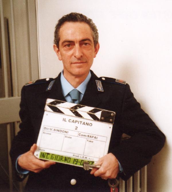 Nicola Natalia sul set della fiction Il capitano 2, per la regia di Vittorio Sindoni