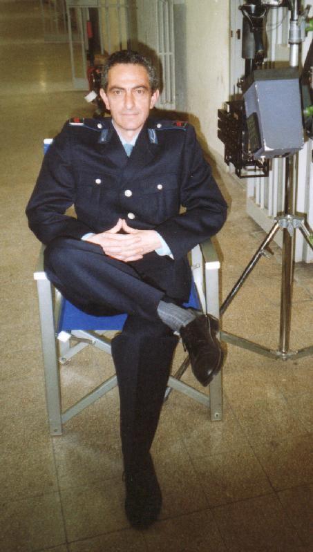 Nicola Natalia sul set della serie televisiva Il Capitano 2, per la regia di V. Sindoni.