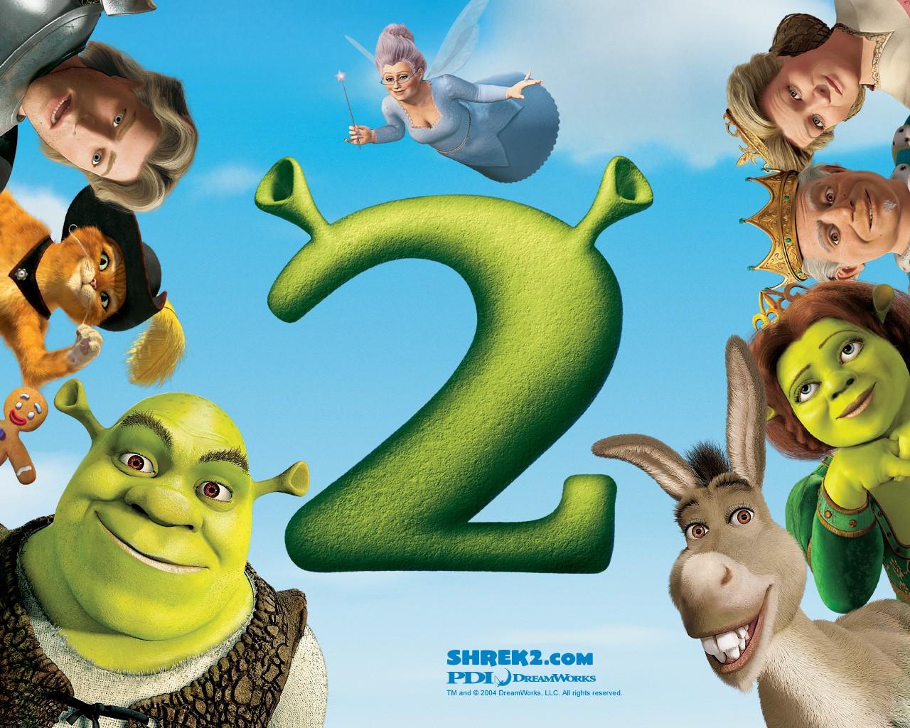 Un wallpaper di gruppo per il film d'animazione Shrek 2