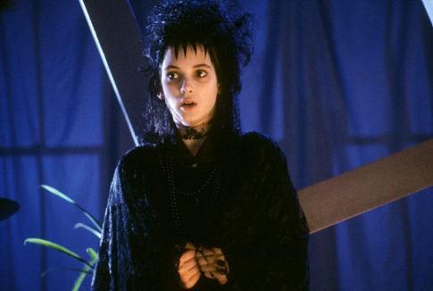 Winona Ryder è Lydia Deetz in Beetlejuice - Spiritello porcello
