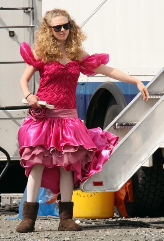 Amanda Seyfried sul set del film Jennifer's Body, nel 2008