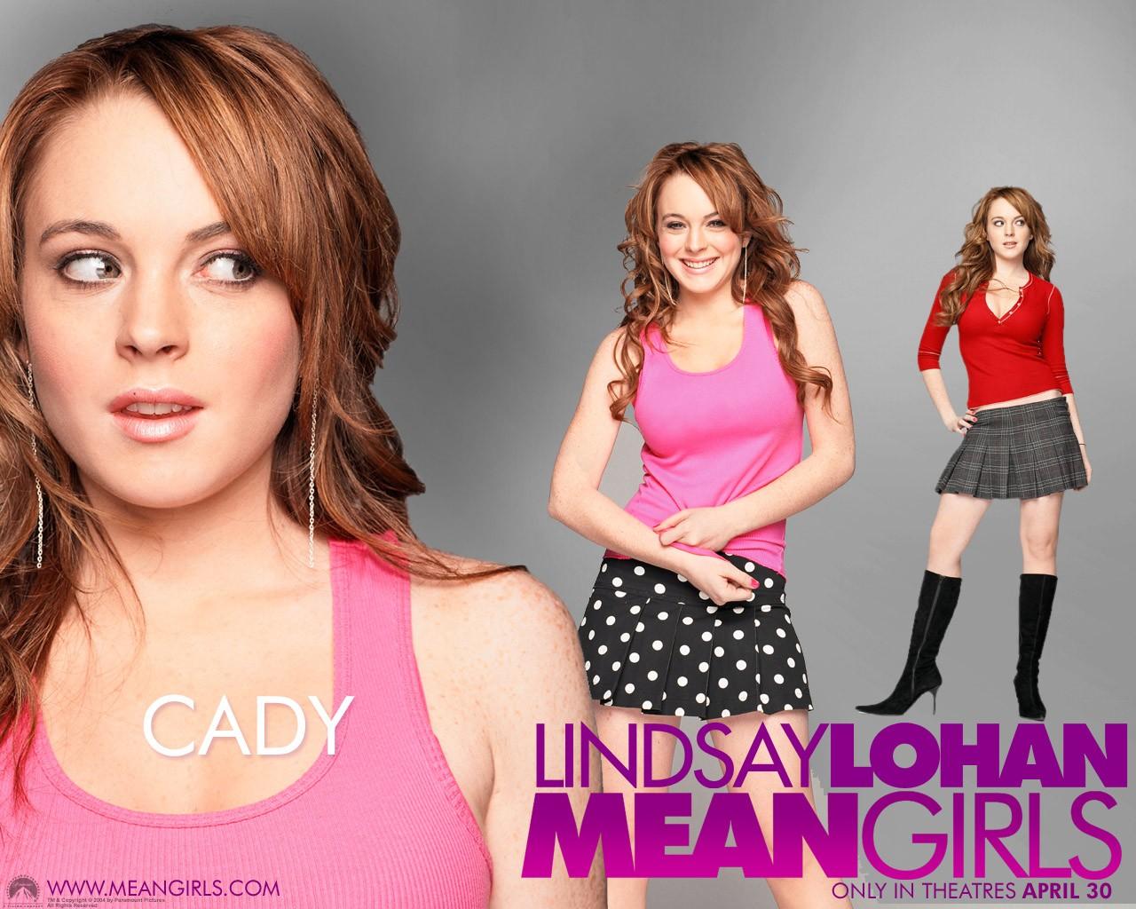 Un wallpaper di Lindsay Lohan (Cady Heron) per il film Mean Girls