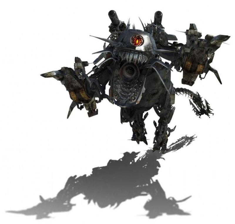 Immagine di Ravage durante l'attacco per il film Transformers: Revenge of the Fallen