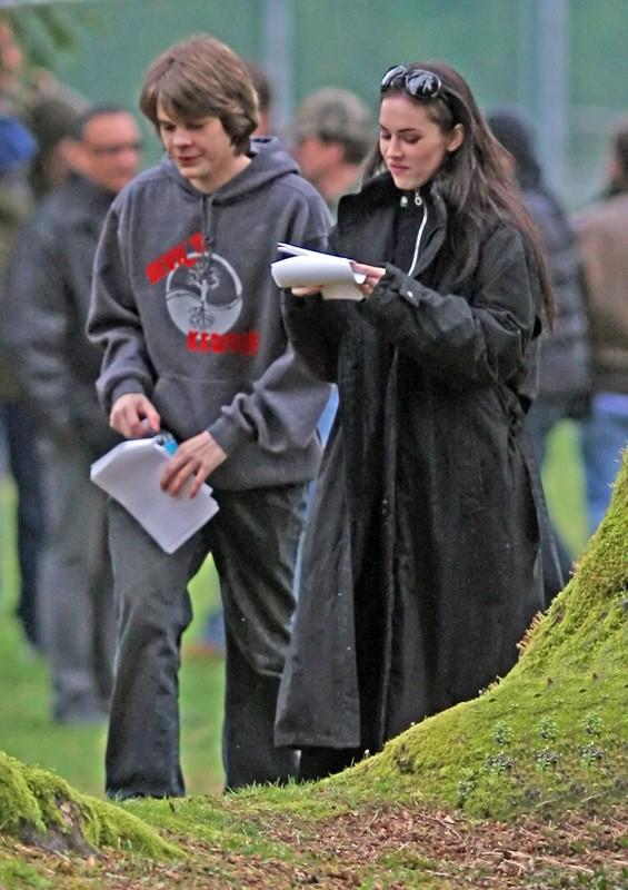 Megan Fox con Johnny Simmons sul set del film Jennifer's Body