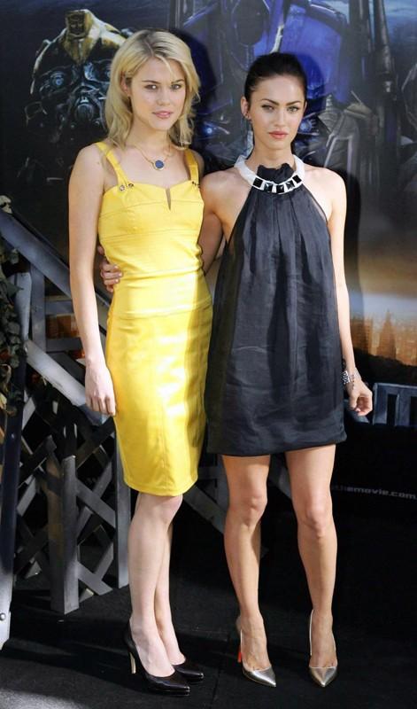 Megan Fox e Rachel Taylor alla Sydney Press Conference di Transformes