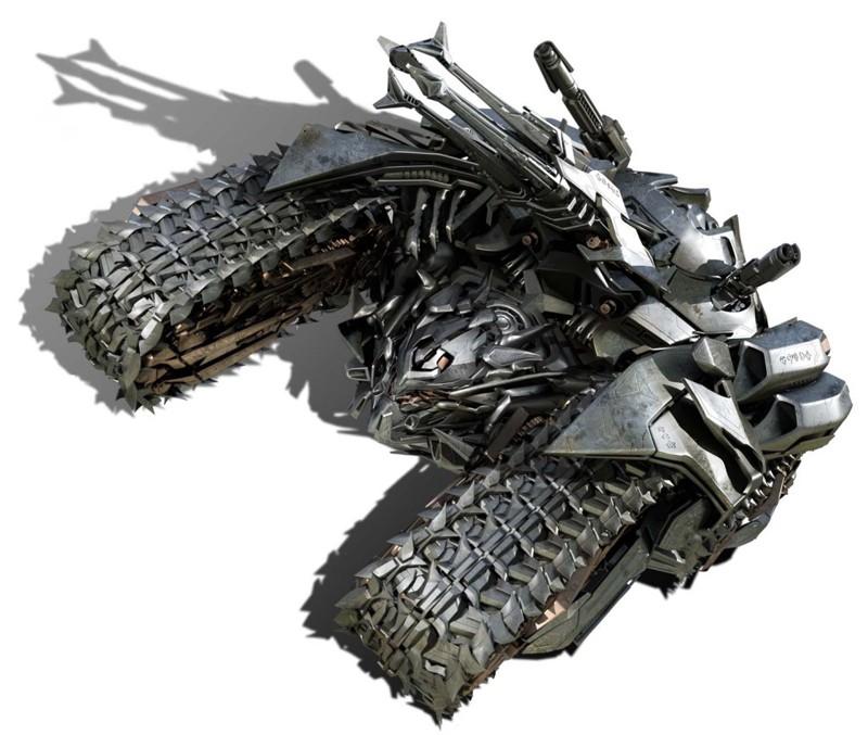 Megatron in versione cingolato per il film Transformers: Revenge of the Fallen