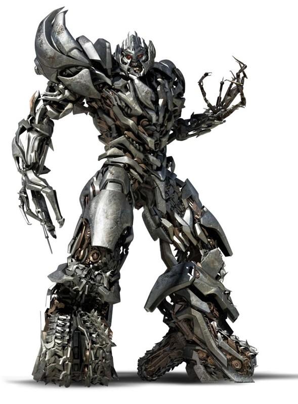 Un'immagine del Decepticon Megatron nel film Transformers: Revenge of the Fallen