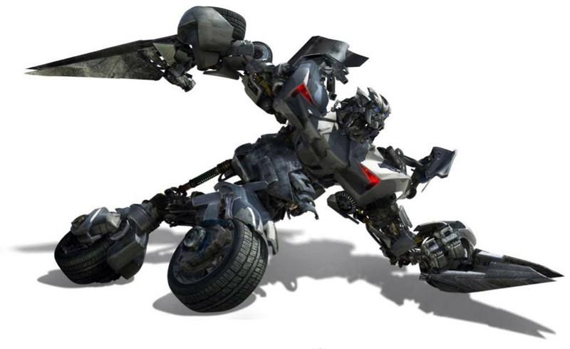 Un'immagine di Sideswipe durante un'azione per il film Transformers: Revenge of the Fallen