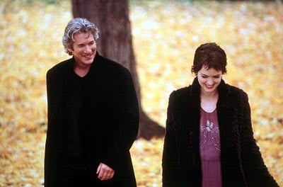 Richard Gere con Winona Ryder in una sequenza del film Autumn in New York