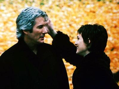 Richard Gere e Winona Ryder in una scena del film Autumn in New York