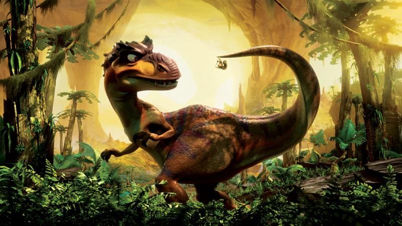 Una scena dell'atteso film L'era glaciale 3 - L'alba dei dinosauri