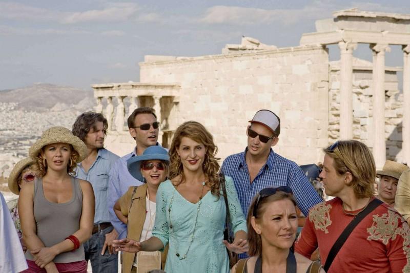 Rachel Dratch, Nia Vardalos e Harland Williams in una scena del film My Life in Ruins