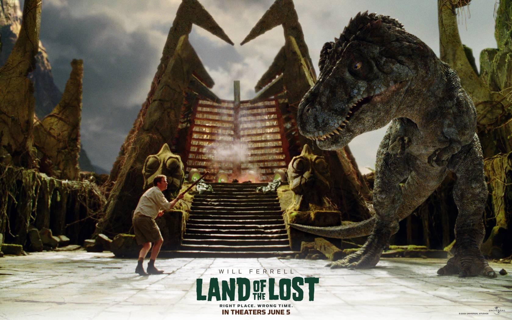 Un wallpaper del film Land of the Lost con Will Ferrell