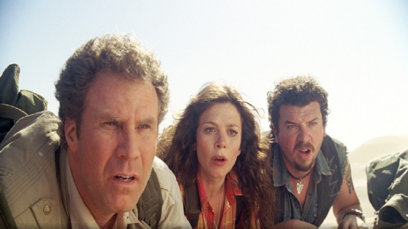 Will Ferrell, Anna Friel e Danny McBride in un'immagine del film Land of the Lost
