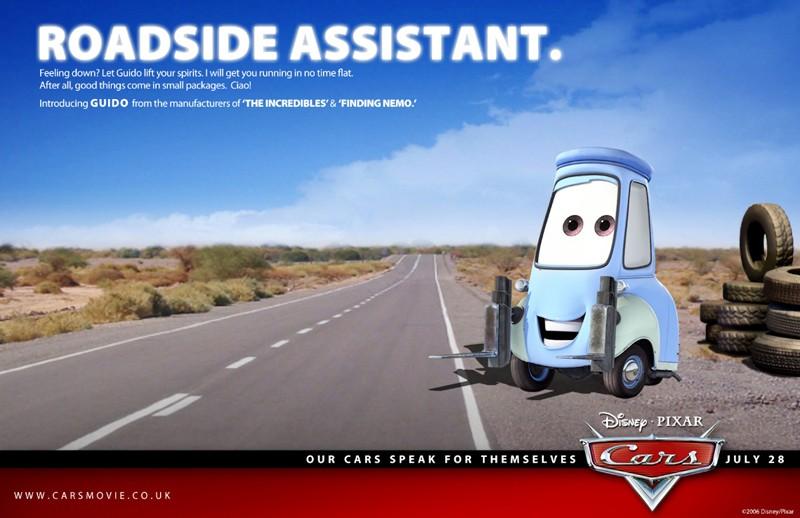 Un'immagine promozionale con Guido per Cars