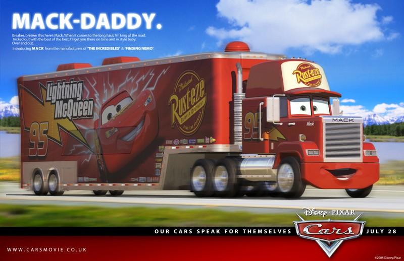 Un'immagine promozionale con Mack per Cars