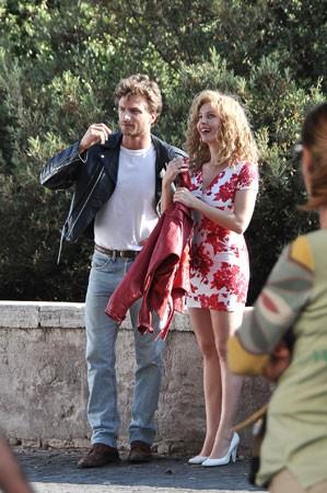 Violante Placido, sul set di Moana insieme al suo compagno Andre