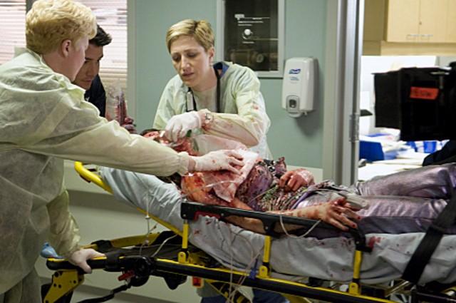 Una scena della serie Nurse Jackie