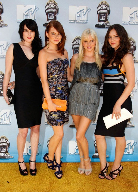 Rumer Willis, Emma Stone, Anna Faris e Katharine McPhee agli MTV Movie Award 2008