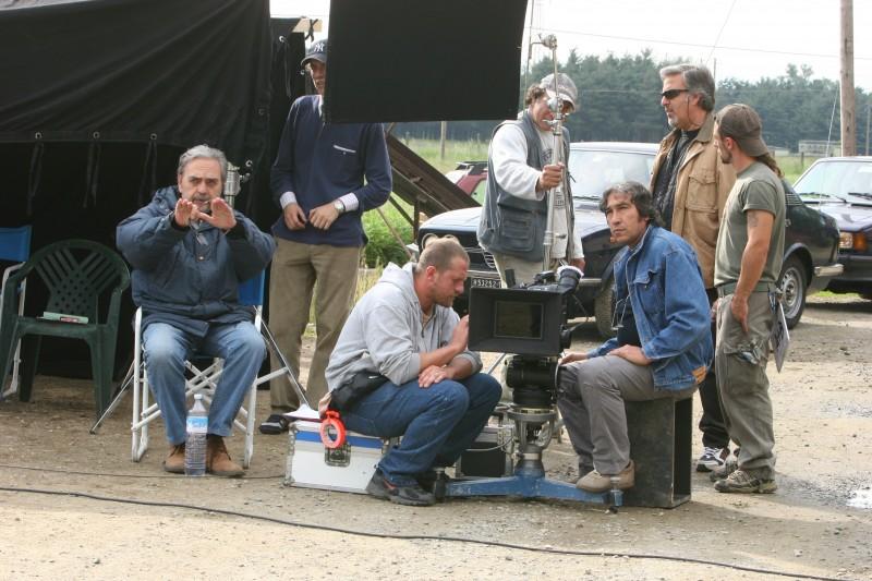 Bruno Cascio sul set del film 'Dalla parte giusta'.