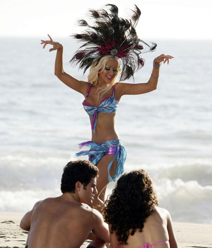 Christina Aguilera in uno spot pubblicitario per la Pepsi