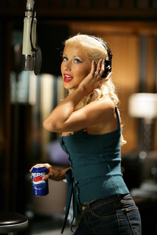 Christina Aguilera per uno spot pubblicitario della Pepsi