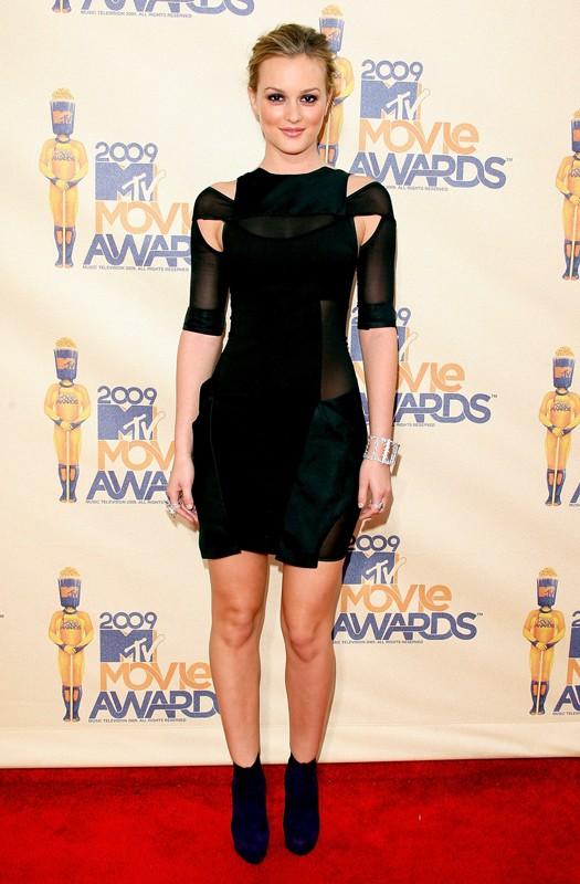 L'attrice di Gossip Girl, Leighton Meester agli Mtv Movie Awards 2009