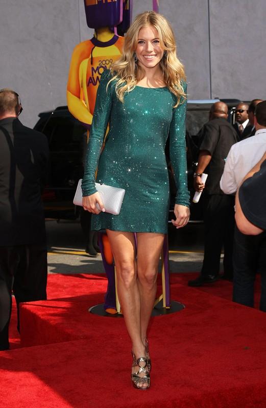L'attrice Sienna Miller agli Mtv Movie Awards 2009