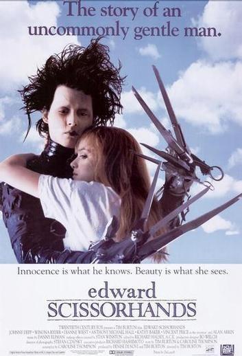 Poster americano del film Edward mani di forbice