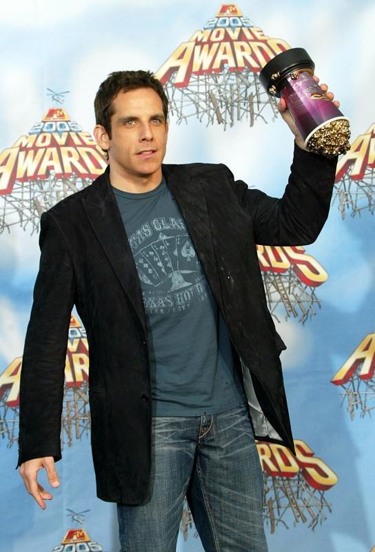 L'attore Ben Stiller è il vincitore come 'Miglior Cattivo' agli MTV Movie Awards 2005