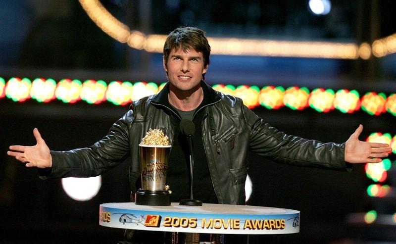 Tom Cruise ringrazia per aver vinto l'MTV Generation Award, agli MTV Movie Awards 2005