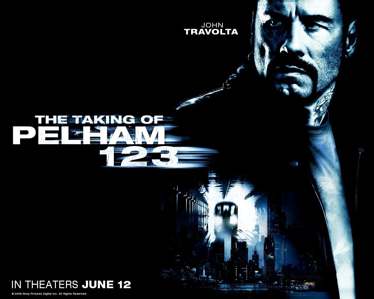 Un wallpaper del film Pelham 1-2-3: Un ostaggio al minuto con John Travolta