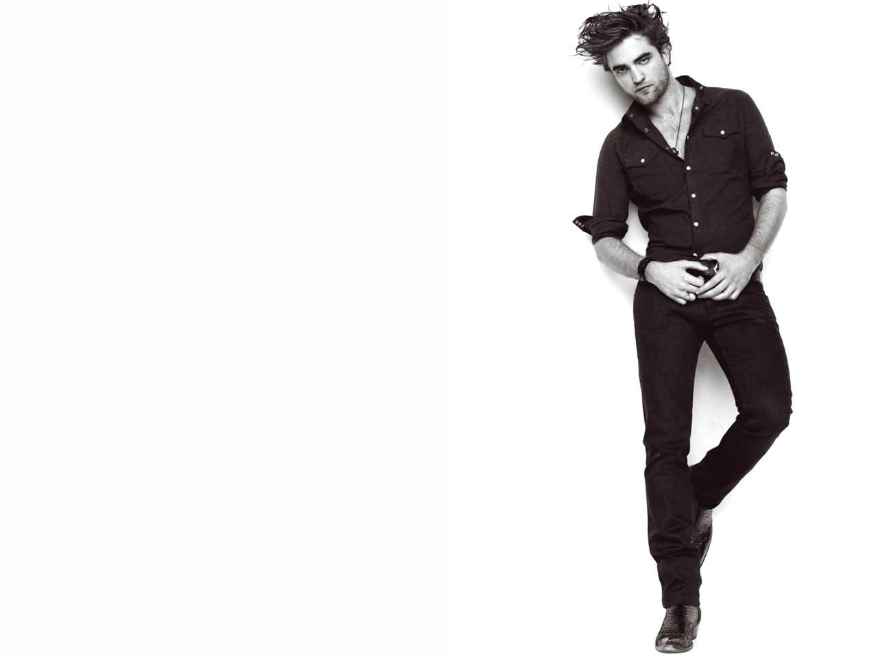 Un wallpaper di Robert Pattinson, la star di Twilight