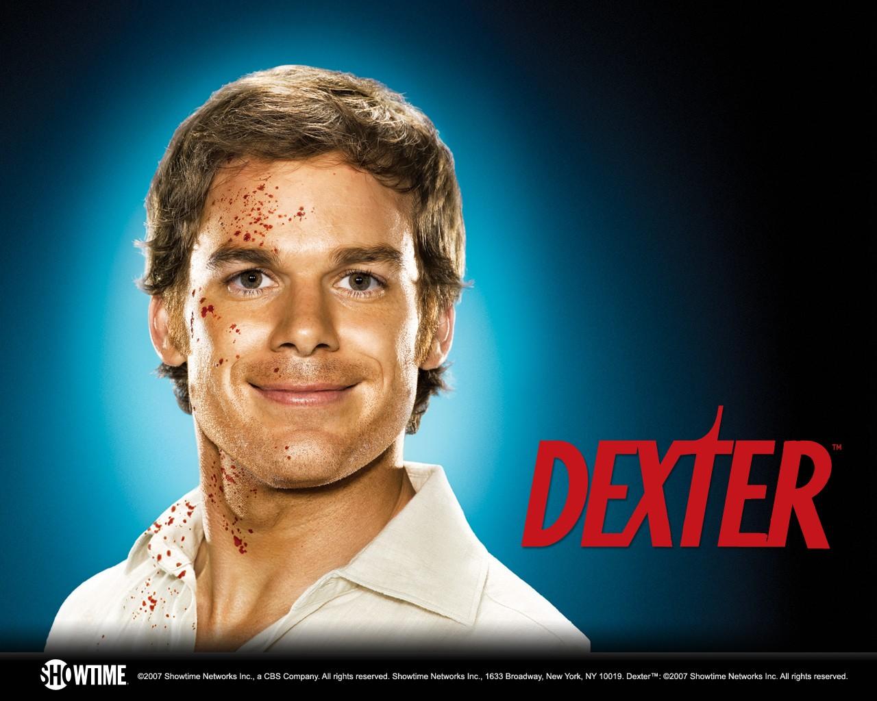 Un wallpaper della stagione 2 di Dexter con Michael C. Hall