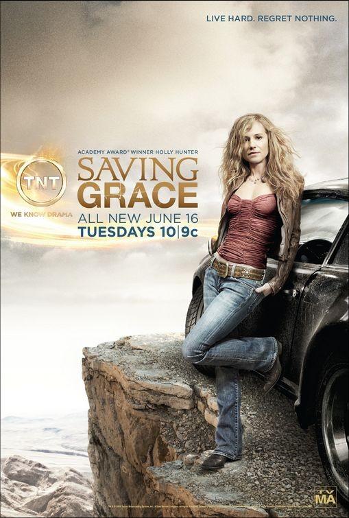 Un poster della Stagione 3 di Saving Grace