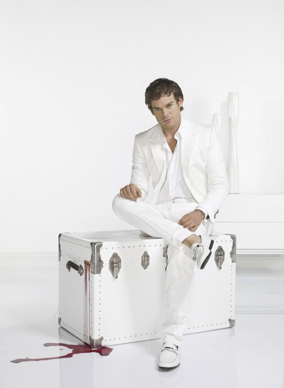 Una foto promo di Michael C. Hall per la 3 stagione del telefilm Dexter