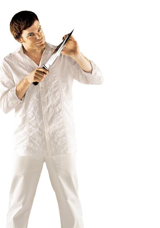 Una foto promo di Michael C. Hall per la prima stagione della serie Dexter