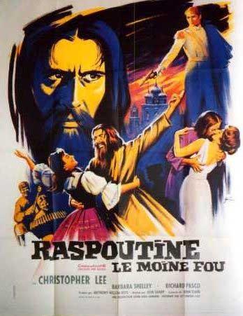 Locandina francese del film Rasputin, il monaco folle