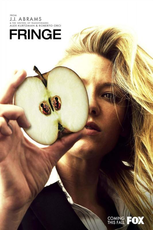 Un manifesto pubblicitario per la serie Fringe
