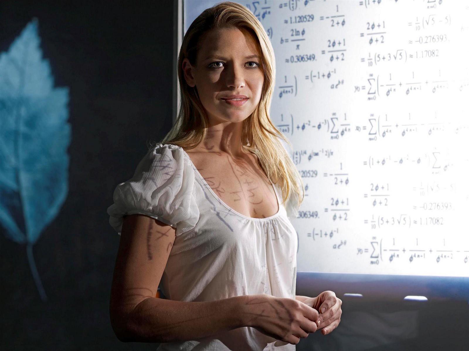 Un wallpaper dell'Agente Olivia Dunham interpretata da Anna Torv per la serie Fringe
