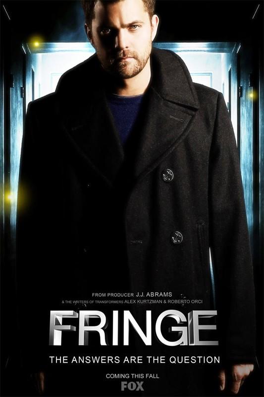 Una locandina della serie Fringe, con Joshua Jackson
