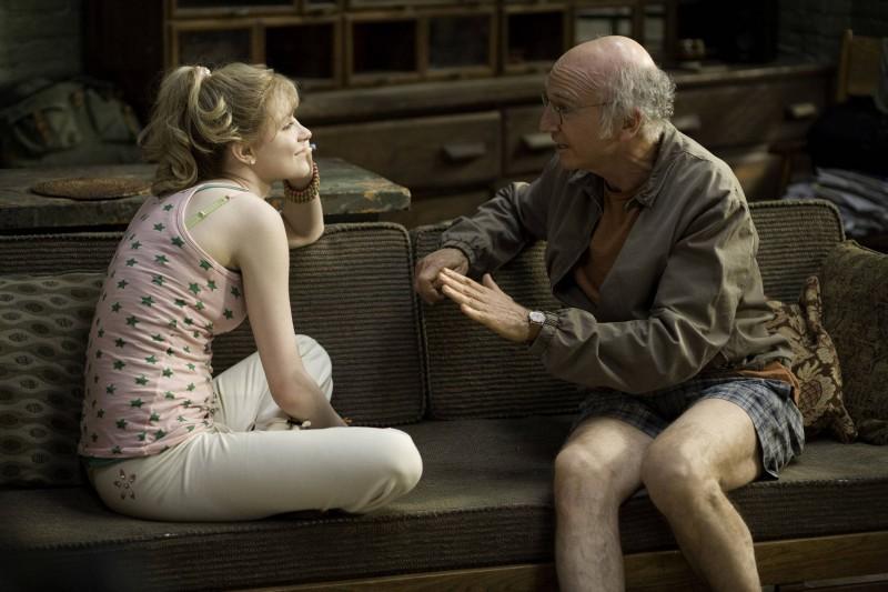 Evan Rachel Wood e Larry David in un'immagine del film Whatever Works, diretto da Woody Allen
